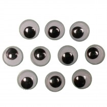 Self Adhesive Stick On Googly Eyes 18mm Pack of 10