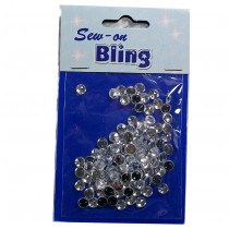 Sew on Bling - Round Clear 5mm