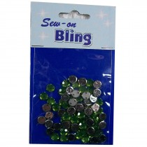 Sew on Bling - Round Green 6mm