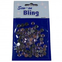 Sew on Bling - Round Lilac 6mm
