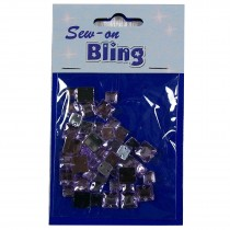 Sew on Bling - Square Lilac 6mm & 8mm