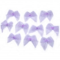 Sheer Ribbon Bows 3cm Lilac Pack of 10