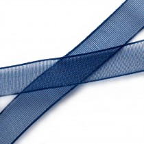 Sheer Organza Plain Ribbon 15mm wide Navy Blue 3 metre length