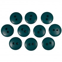 Smartie Buttons Polyester 15mm Blue Green Pack of 10