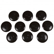 Smartie Buttons Polyester 15mm Dark Brown Pack of 10