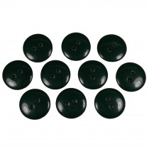 Smartie Buttons Polyester 18mm Dark Green Pack of 10