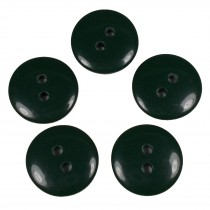Smartie Buttons Polyester 15mm Dark Green Pack of 5