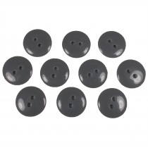 Smartie Buttons Polyester 18mm Grey Pack of 10