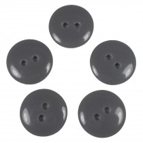 Smartie Buttons Polyester 15mm Grey Pack of 5