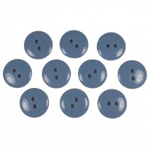 Smartie Buttons Polyester 20mm Light Blue Pack of 10