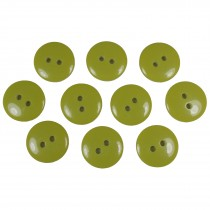 Smartie Buttons Polyester 15mm Light Green Pack of 10