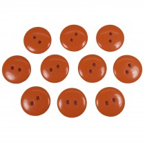 Smartie Buttons Polyester 20mm Orange Pack of 10