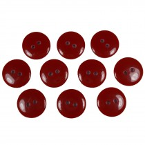 Smartie Buttons Polyester 15mm Red Pack of 10