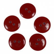 Smartie Buttons Polyester 15mm Red Pack of 5
