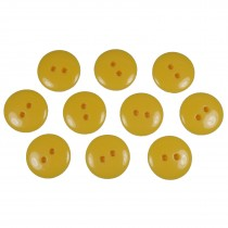 Smartie Buttons Polyester 18mm Yellow Pack of 10