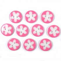 Splat Daisy Flower Round 2 Hole Buttons 17mm Pale Pink Pack of 10