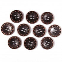 Metal Star Rim 4 Hole Round Buttons 18mm Bronze Pack of 10