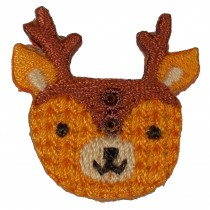 Stiff Felt Knit Woodland Animal Buttons 25mm Knit Deer Pack of 1