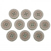 Stitched Edge Effect 4 Hole Buttons 17mm Light Brown Pack of 10