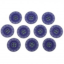 Stitched Edge Effect 4 Hole Buttons 17mm Purple Pack of 10