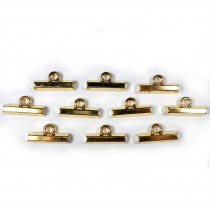 Metal T Bar Buttons 15mm Gold Pack of 10