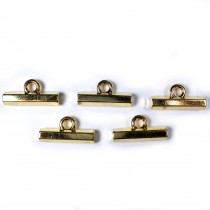 Metal T Bar Buttons 15mm Gold Pack of 5