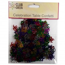 Club Green Celebration Table Confetti 5 x 14g packs of 30s