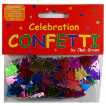 Club Green Celebration Table Confetti 3 x 14g packs of Birthday Cakes