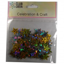 Club Green Celebration Table Confetti 5 x 14g packs of Gold and Silver Stars
