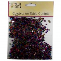 Club Green Celebration Table Confetti 3 x 14g packs of Multi Colour Stars