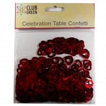 Club Green Celebration Table Confetti 3 x 14g packs of Red Hearts
