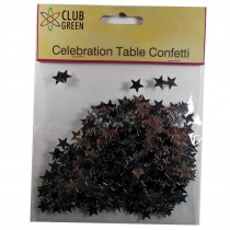 Club Green Celebration Table Confetti 3 x 14g packs of Silver Stars