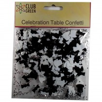 Club Green Celebration Table Confetti 4 x 14g packs of Top Hat and Bow Ties