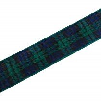 Berisfords Tartan Plaid Polyester Ribbon 25mm wide Blackwatch 1 metre length