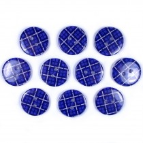 Tartan Checked Squares Round 2 Hole Buttons 20mm Dark Blue Pack of 10