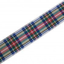 Berisfords Tartan Plaid Polyester Ribbon 7mm wide Dress Stewart 1 metre length