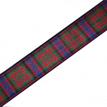 Berisfords Tartan Plaid Polyester Ribbon 40mm wide Macdonald 2 metre length