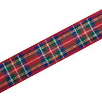 Berisfords Tartan Plaid Polyester Ribbon 25mm wide Royal Stewart 1 metre length