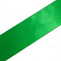 Double Satin Ribbon 10mm wide Emerald Green 3 metre length