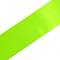 Double Satin Ribbon 38mm wide Neon Green 3 metre length