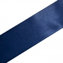 Double Satin Ribbon 25mm wide Navy Blue 3 metre length