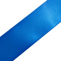Double Satin Ribbon 25mm wide Royal Blue 3 metre length