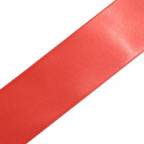 Double Satin Ribbon 3mm wide Coral Pink 3 metre length