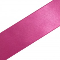 Double Satin Ribbon 25mm wide Raspberry 3 metre length