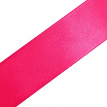 Double Satin Ribbon 10mm wide Cerise 3 metre length