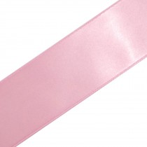 Double Satin Ribbon 25mm wide Mid Pink 3 metre length