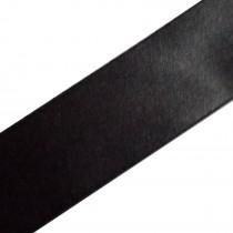 Double Satin Ribbon 3mm wide Black 3 metre length