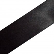 Double Satin Ribbon 25mm wide Black 3 metre length
