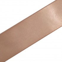 Double Satin Ribbon 38mm wide Natural 3 metre length