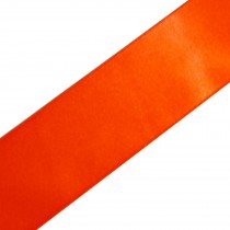 Double Satin Ribbon 10mm wide Orange 3 metre length